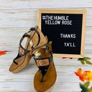 Tommy Hilfiger Gold Buckle Platform Sandals